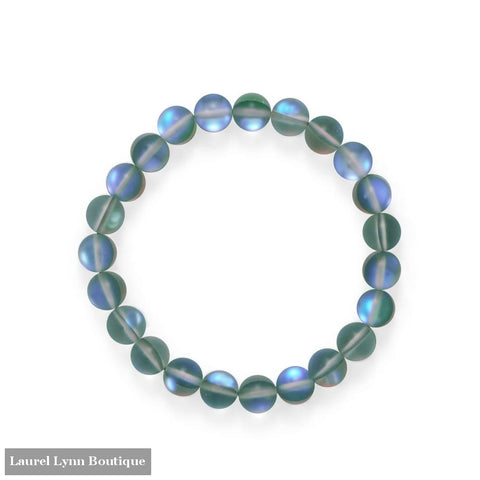 Mermaid At Heart! Grey Iridescent Stretch Bracelet - W2848 - Liliana Skye