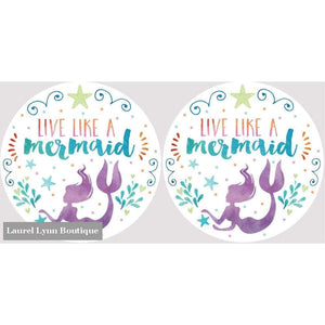 Mermaid Car Coaster Set #4038 - Clementine Design - Blairs Jewelry & Gifts