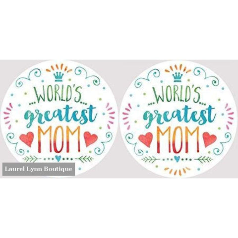 Mom Car Coaster Set #4053 - Clementine Design - Blairs Jewelry & Gifts