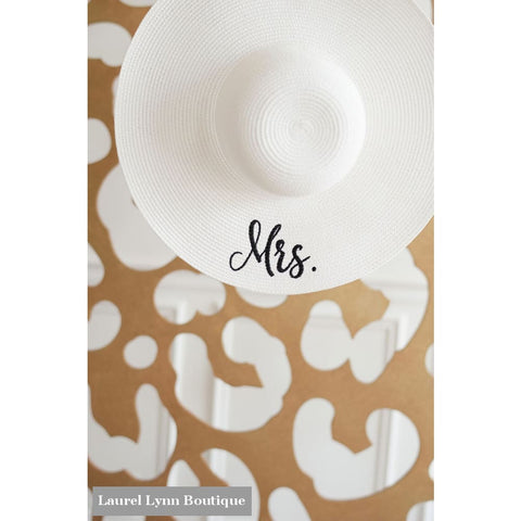 Mrs. Floppy Hat - White - M180VL-WHT-MRS - Viv & Lou