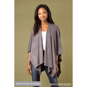 New Heathered Bordeaux Cardi Wrap - Simply Noelle - Blairs Jewelry & Gifts