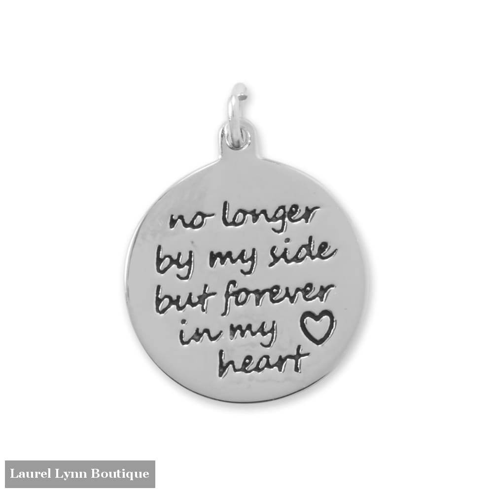 Oxidized Forever In My Heart Charm - Liliana Skye - Blairs Jewelry & Gifts