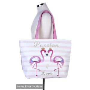 Passion & Love Flamingo Tote Bag - Laurel Lynn Boutique - Blairs Jewelry & Gifts