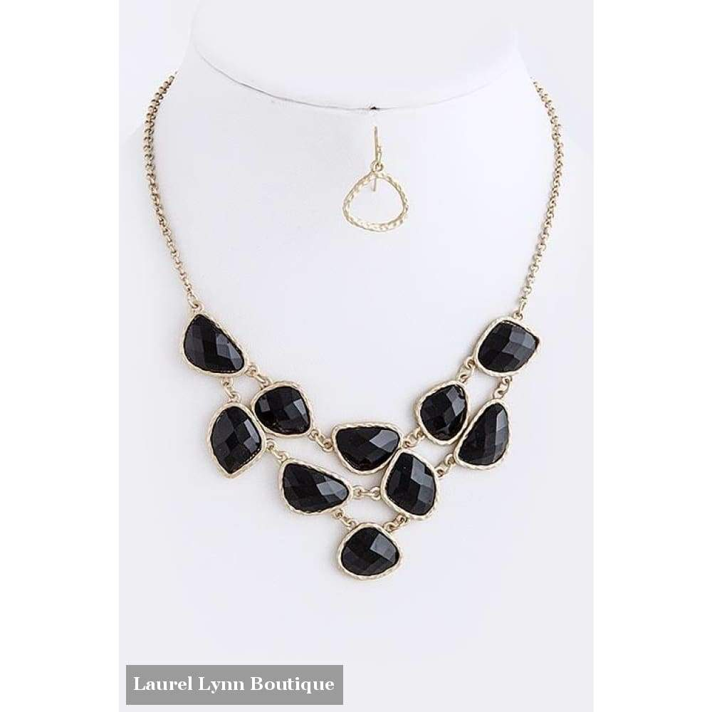 Petite Statement Necklace - Black - Blairs Jewelry & Gifts - Blairs Jewelry & Gifts