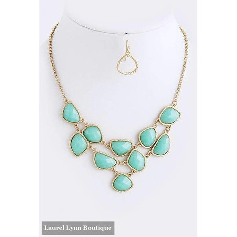 Petite Statement Necklace - Turquoise - Blairs Jewelry & Gifts - Blairs Jewelry & Gifts