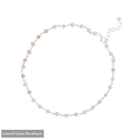 Pink Party! 9.5+1 14 Karat Gold Plated Beaded Anklet - 92162 - Liliana Skye