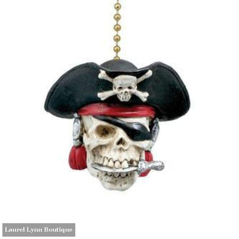 Pirate Skull Fan Pull #294 - Clementine Design - Blairs Jewelry & Gifts
