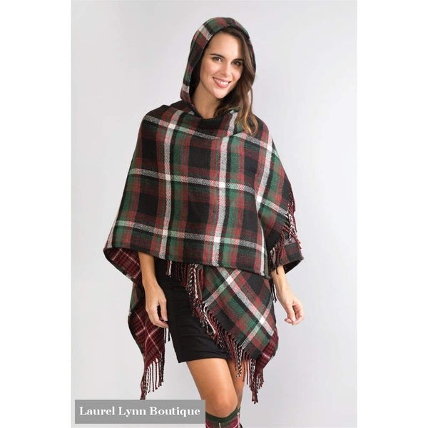Plaid To Meet You Hooded Wrap - Simply Noelle - Blairs Jewelry & Gifts