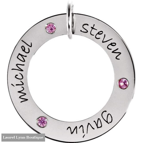 Posh Mommy Wee Loop - 14K White / 2 / With Birthstones - Stuller - Blairs Jewelry & Gifts