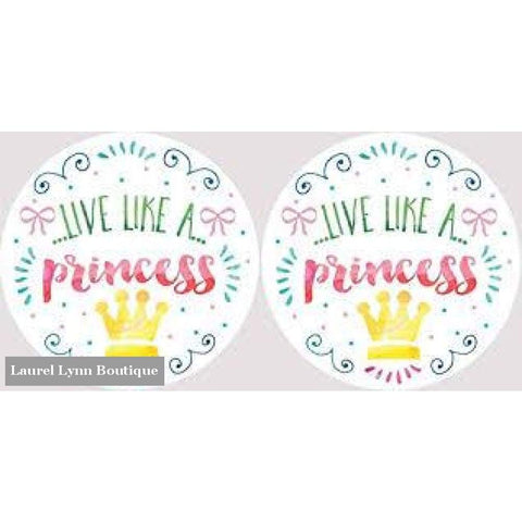 Princess Car Coaster Set #4052 - Clementine Design - Blairs Jewelry & Gifts