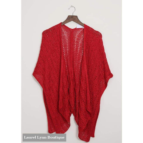 Rapunzel Cardi Wrap - Red - C62 - Simply Noelle - Blairs Jewelry & Gifts