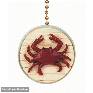 Red Crab Fan Pull #350 - Clementine Design - Blairs Jewelry & Gifts