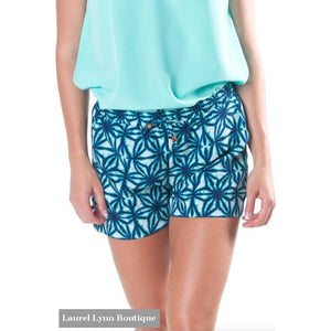 Riley Shorts - Indigo Batik - All For Color - Blairs Jewelry & Gifts