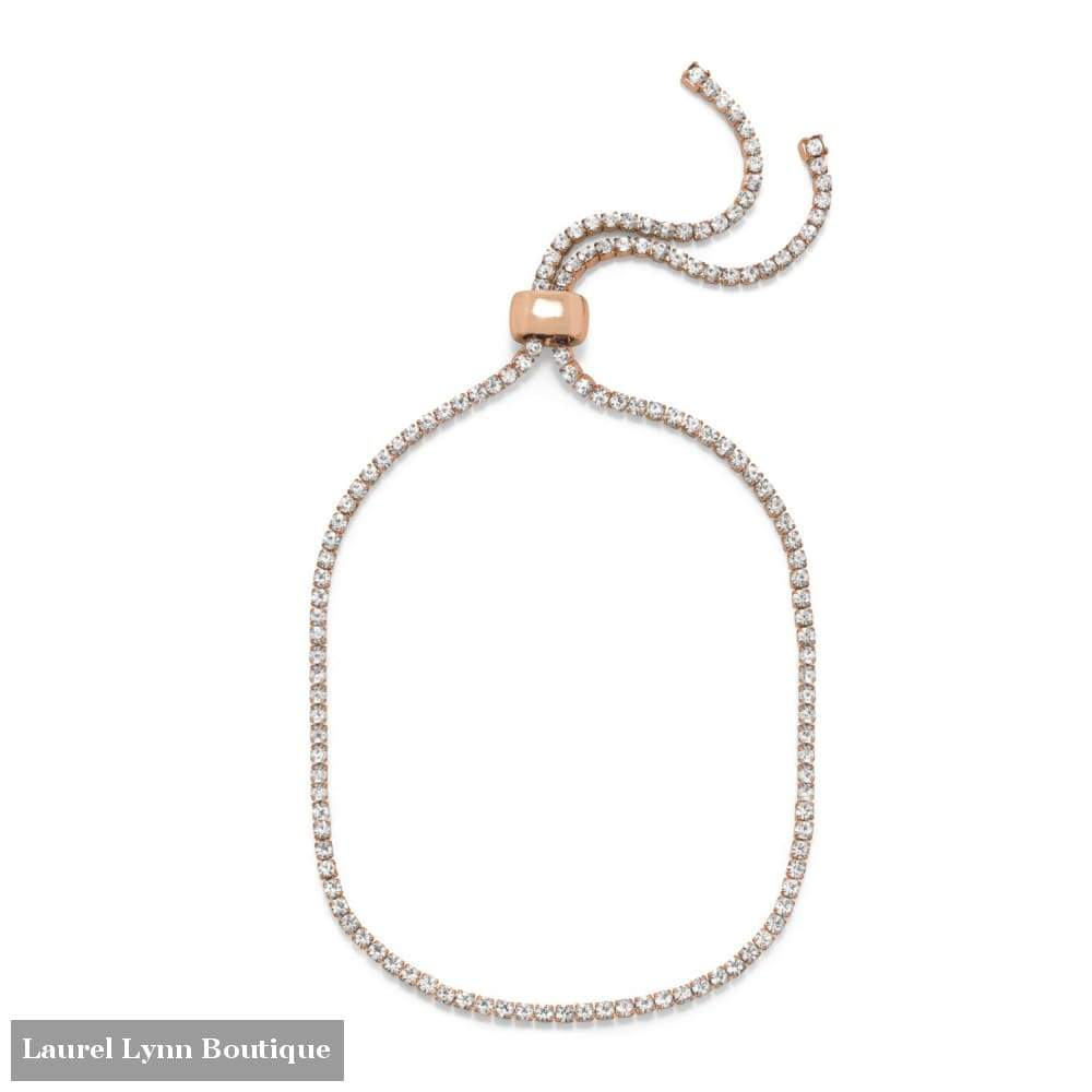 Rose Gold Tone Crystal Bolo Fashion Anklet - Liliana Skye - Blairs Jewelry & Gifts