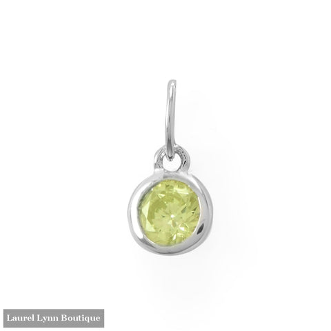 Round CZ August Birthstone Charm - 74646-AUG - Liliana Skye
