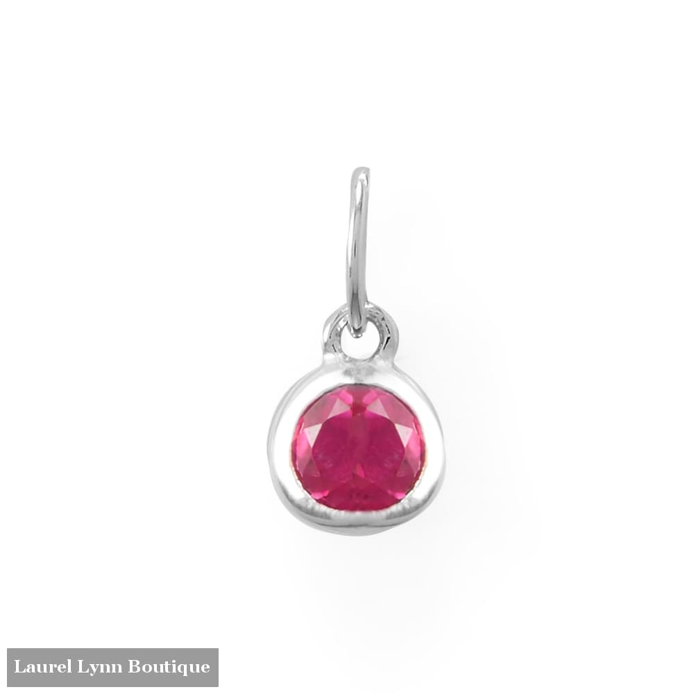 Round CZ July Birthstone Charm - 74646-JUL - Liliana Skye