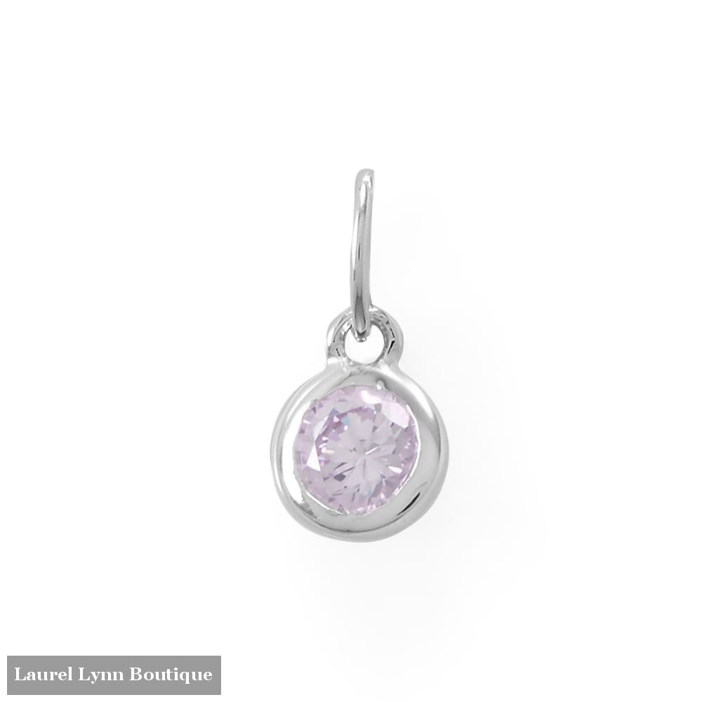 Round CZ June Birthstone Charm - 74646-JUN - Liliana Skye