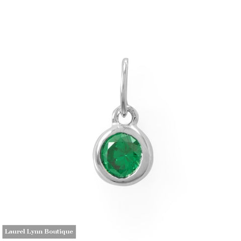 Round CZ May Birthstone Charm - 74646-MAY - Liliana Skye