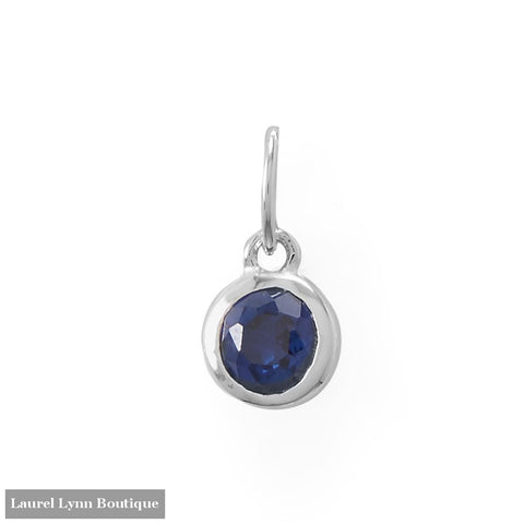 Round CZ September Birthstone Charm - 74646-SEP - Liliana Skye