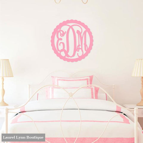 Scallop Design Monogram Wall Art - ALWD-SCALLOP - Viv & Lou