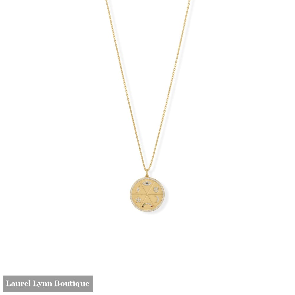 Sensational and Celestial! 16 + 2 Medallion Necklace - 34373 - Liliana Skye
