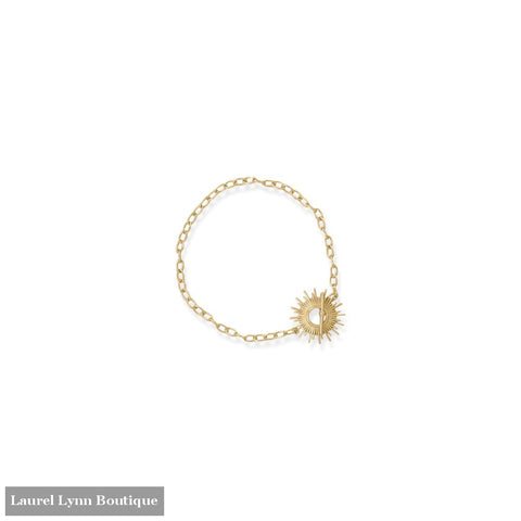 Shine On! 7.5 14 Karat Gold Plated Sunburst Toggle Bracelet - 34369-7 - Liliana Skye