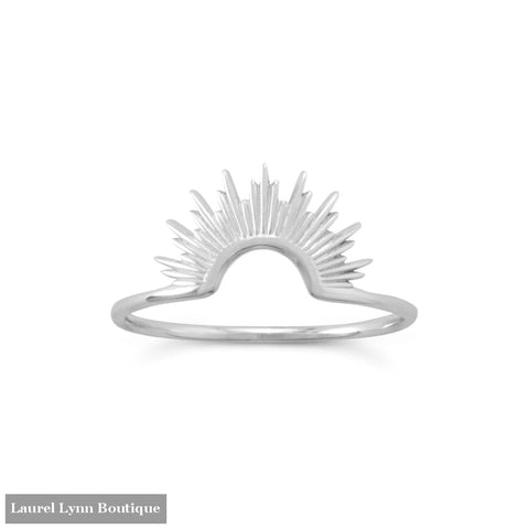 Shine On! Shiny Silver Sunburst Ring - 83867-9 - Liliana Skye