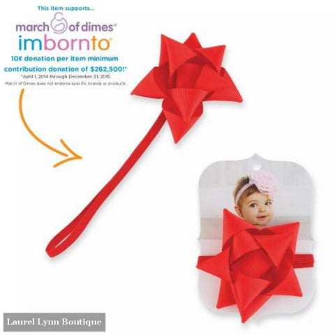 Small Red Gift Bow Headband - Mud-Pie - Blairs Jewelry & Gifts