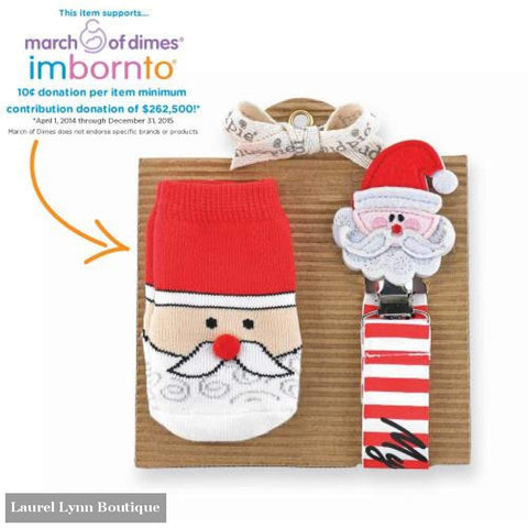 Sock & Pacy Clip Set - Santa - Mud-Pie - Blairs Jewelry & Gifts