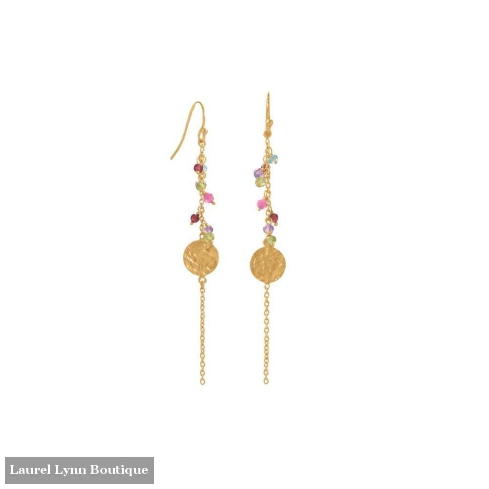 Spring Queen! 14 Karat Gold Plated Multi Bead and Disk Earring - LE1282 - Liliana Skye