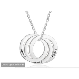 Stainless Steel 3 Name Mother's Necklace - NE103036 - Jewelora