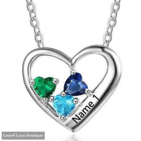 Sterling Silver Heart Mothers Necklace - 3 - Ne101879 - Jewelora - Blairs Jewelry & Gifts
