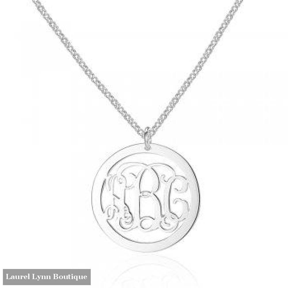 Sterling Silver Monogram Necklace - Jewelora - Blairs Jewelry & Gifts