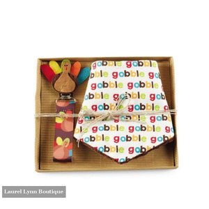 Thanksgiving Bib And Pacy Clip Set - Mud-Pie - Blairs Jewelry & Gifts