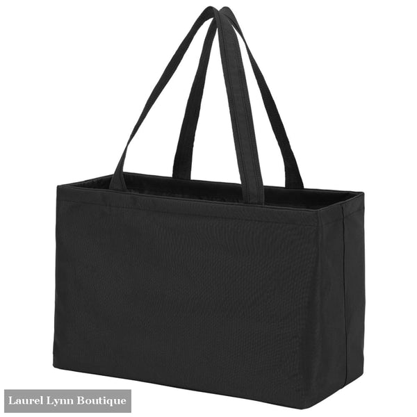 Ultimate Tote - Solid Colors - Black / Embroidered - Viv & Lou