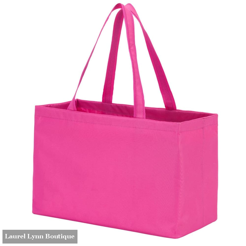 Ultimate Tote - Solid Colors - Hot Pink / Embroidered - Viv & Lou