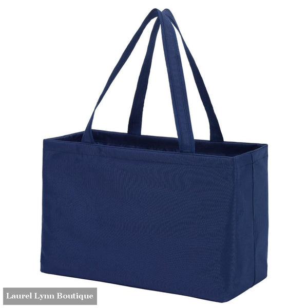 Ultimate Tote - Solid Colors - Navy / Embroidered - Viv & Lou