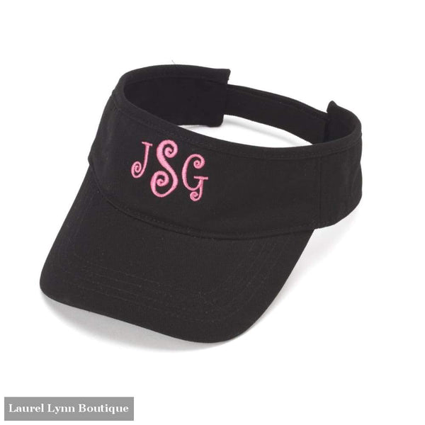 Visor - Black / Blank - 2978 - Blairs Jewelry & Gifts - Blairs Jewelry & Gifts