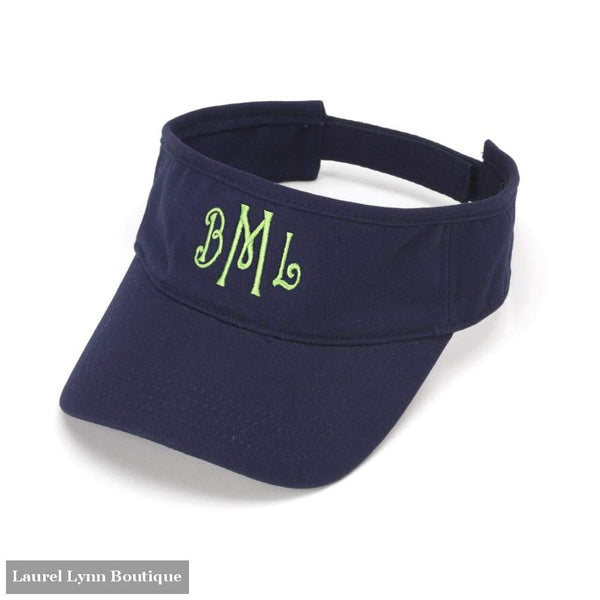 Visor - Navy / Blank - 61A6 - Blairs Jewelry & Gifts - Blairs Jewelry & Gifts