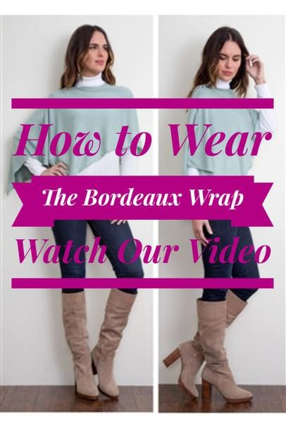 How to Wear The Bordeaux Wrap by Simply Noelle