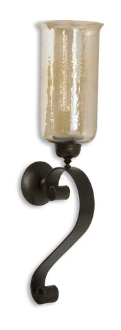 Antique Bronze Metal Wall Sconce