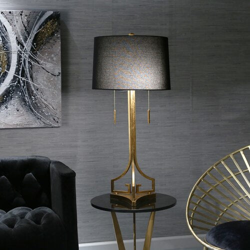 "METAL 34"" 2-PULL TABLE LAMP, GOLD"