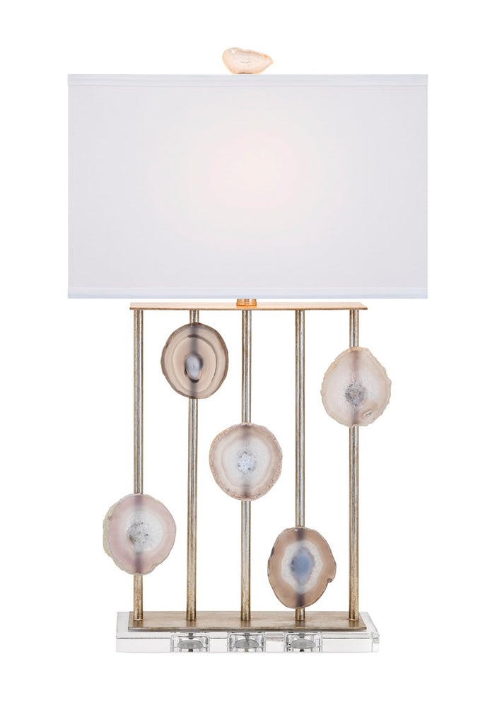NK Emery Agate and Crystal Table Lamp