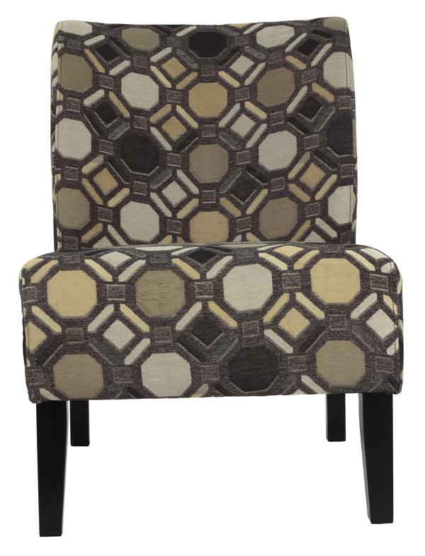 Fabric Upholstered Wooden Accent Chair With Celtic Knot, Multicolor