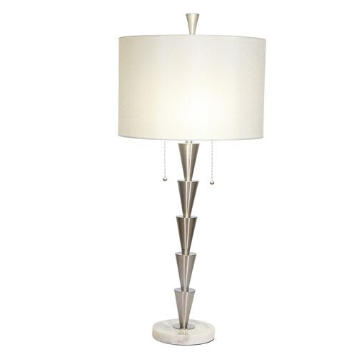 "Silver Metal 34"" Table Lamp"
