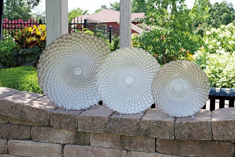 Set of 3 Glass platters