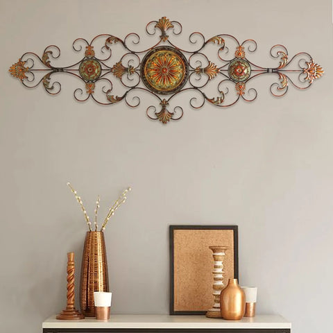 Metal Scroll Decor