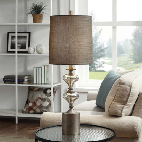 Contemporary brushed metal Table Lamp