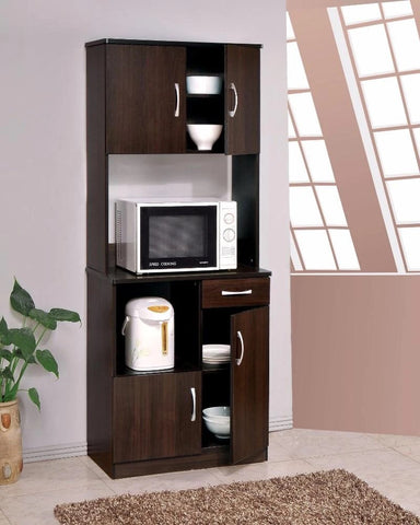 Spacious Kitchen Cabinet , Espresso Brown