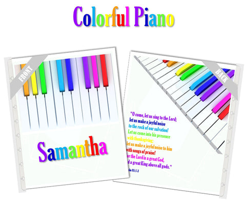 Colorful Piano Planner